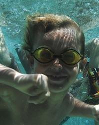 Kimball underwater
