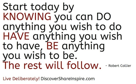 Start today knowing