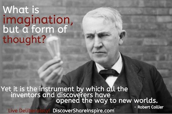 imagination thought edision light bulb