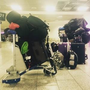 Mountain of luggage